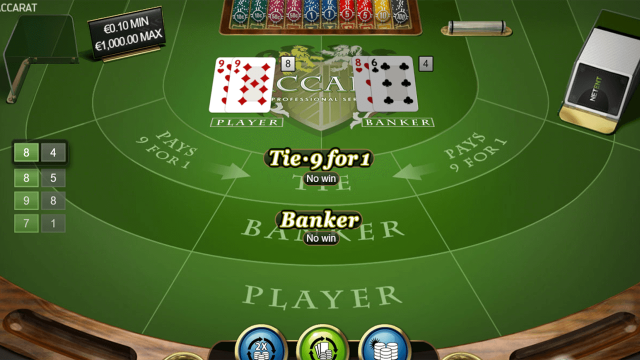 Характеристики слота Baccarat Pro Series Table Game 5