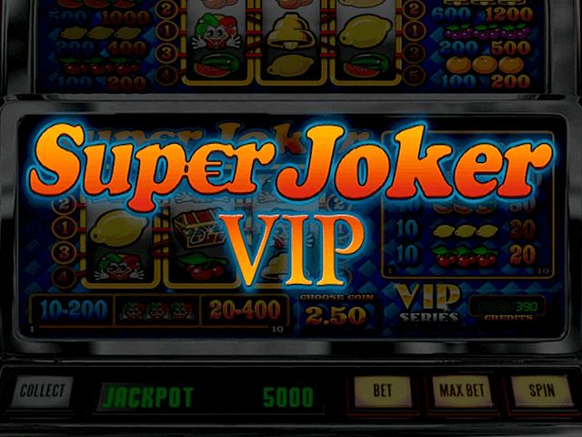 Игровой автомат Super Joker VIP с поддержкой саппорта